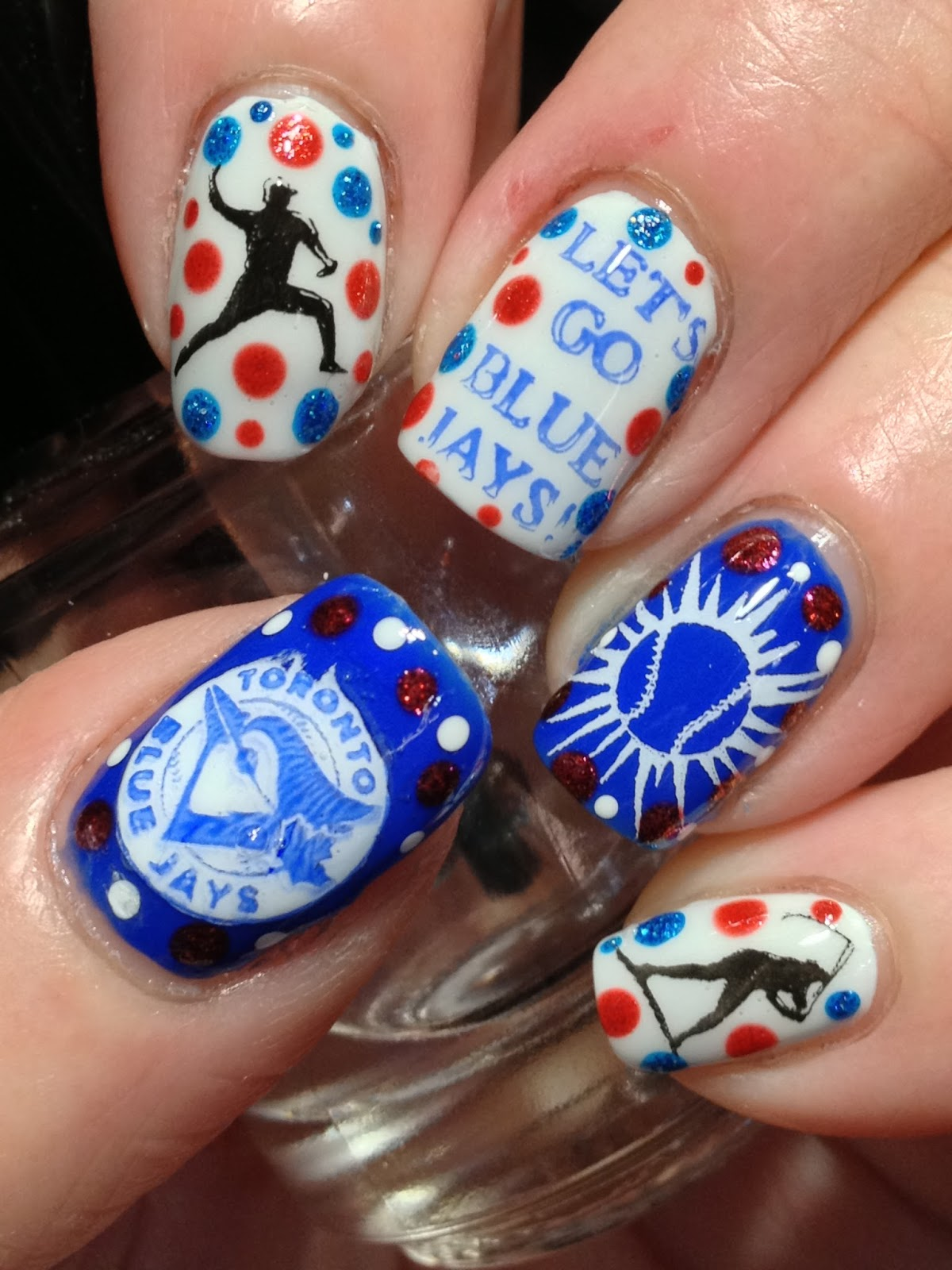 Canadian Nail Fanatic Let S Go Blue Jays