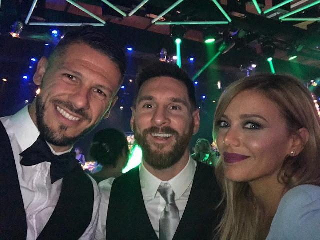 Demichelis, Messi y Evangelina Anderson