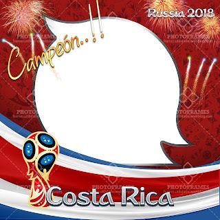 Marco para fotos Costa Rica del mundial Rusia 2018