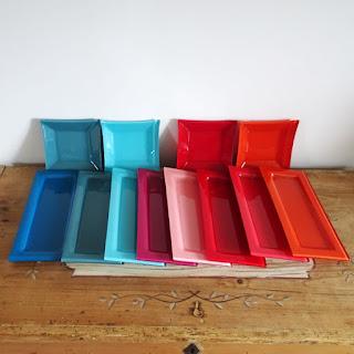 Coupelles carrées verre peint