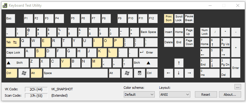 Aplikasi Keyboard Test Utility