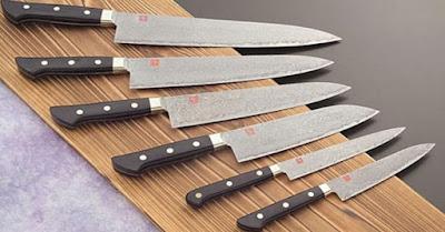 Contoh Gambar Utility Knife, Kitchen Knife & Slicing Knife ( Pisau Iris )