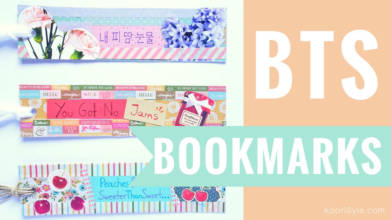 Kpop diy make cute fun bts bookmarks solutioingenieria Images