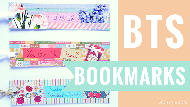 Koori Style, KooriStyle, Kpop, DIY, Tutorial, Do it yourself, Kpop DIY, BTS, Bangtan, Bangtan DIY, BTS DIY, Bookmarks, Bookmark, Separador, BTS Bookmarks, Kpop Bookmarks, Easy, Simple, Manualidad, Separadores Kpop, Separadores BTS