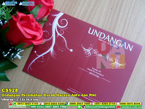 Undangan Pernikahan Merah Maroon Anto Dan Riki