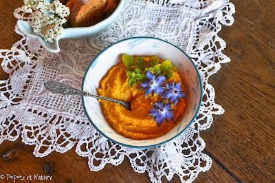 Houmous de carottes rôties © Popote et Nature