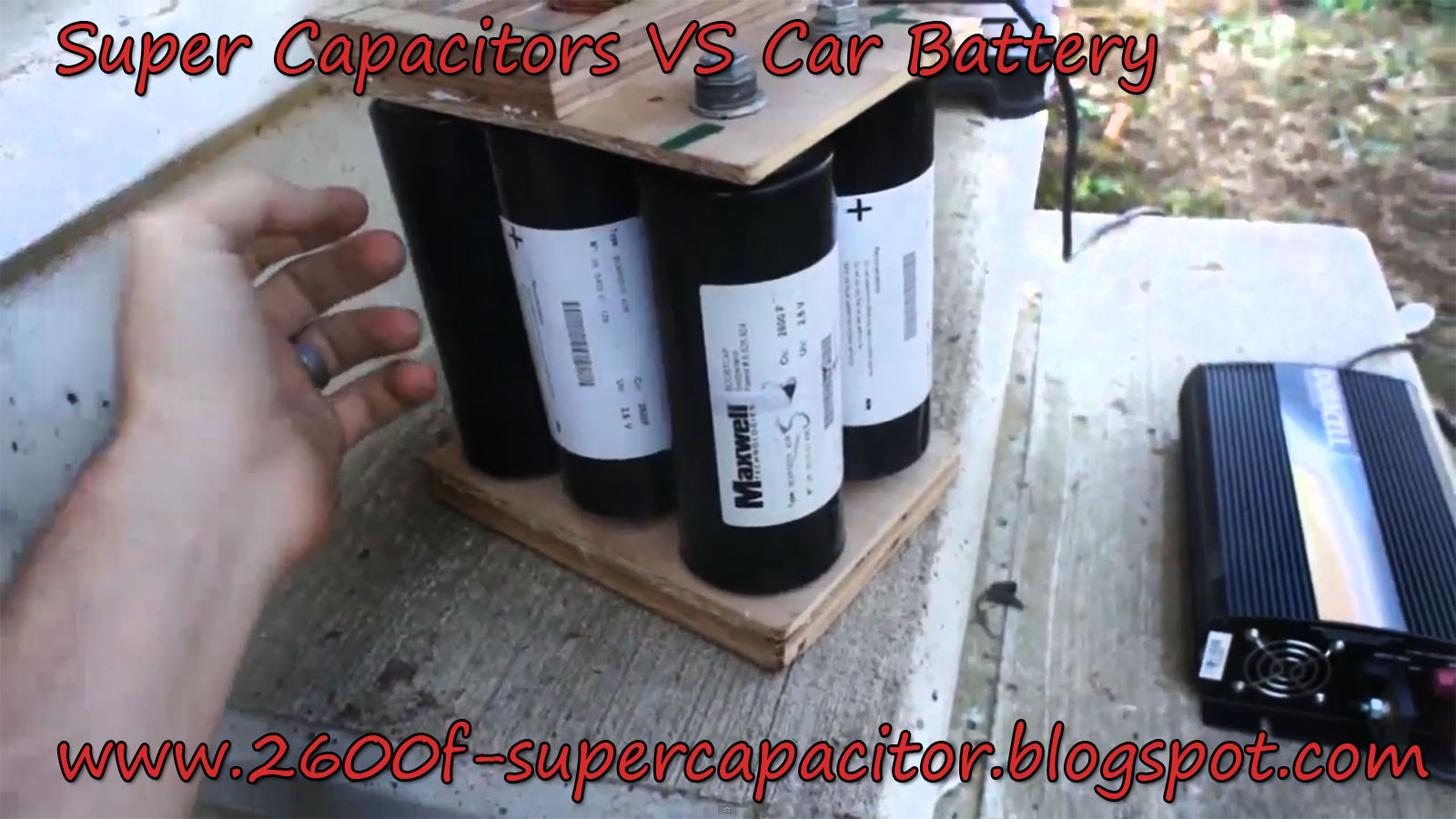 ☈ Super Capacitor Vs Car Battery ☈ ☈ ☈ 2600F Supercapacitor ☈