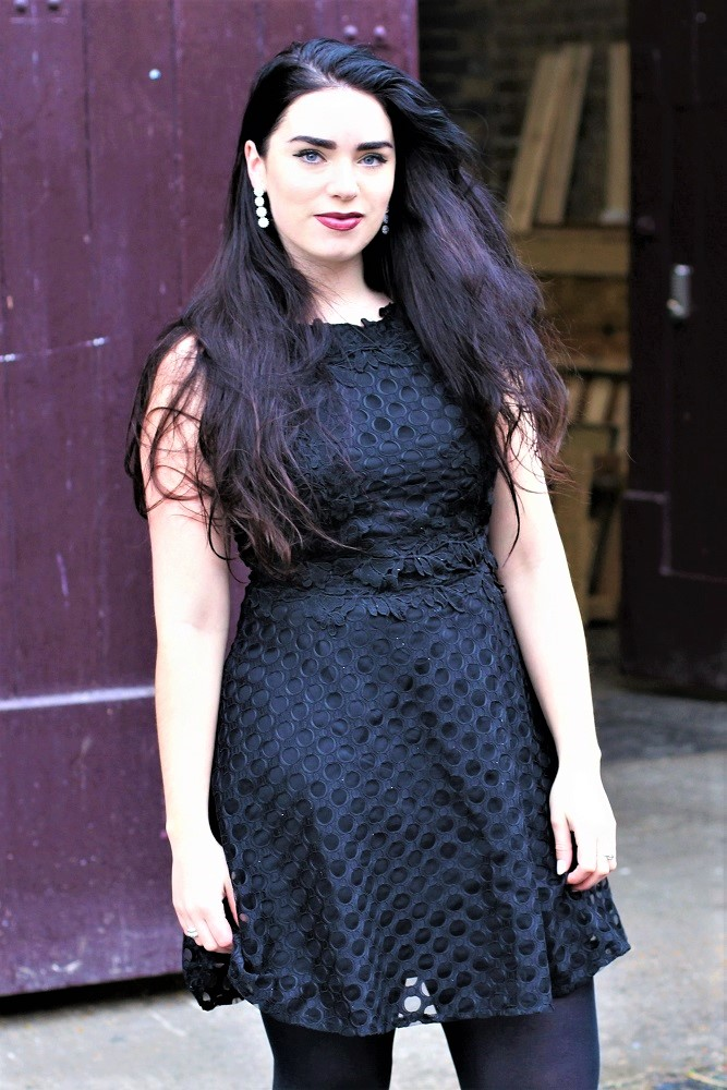 Emma Louise Layla in Quiz little black dress - London style blog