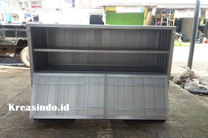 Gerobak Roti Alumunium Motor pesanan Bpk Hendrik di Cipondoh Tangerang