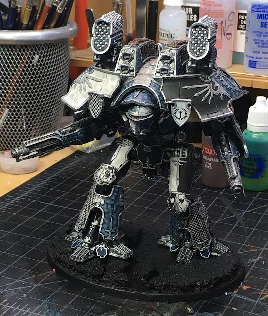 Adeptus Titanicus Legio Tempestus Warlord Battle Titan WIP - assembled