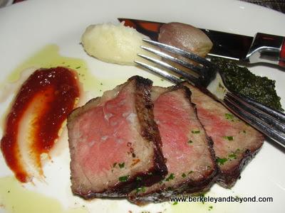 steak plate at Robert's Steakhouse Atlantic City