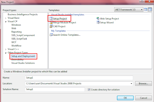 Create Installer File for Windows Application using Visual