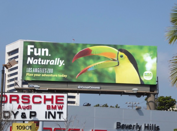 LA Zoo Toucan billboard