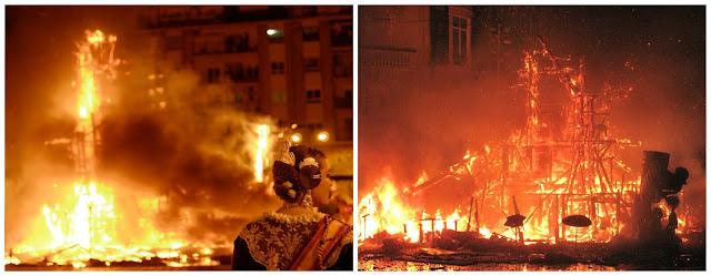 Cremà - queima das fallas em Valência