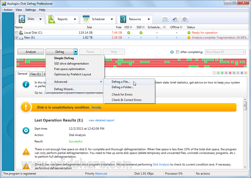 Auslogics Disk Defrag Professional full version crack