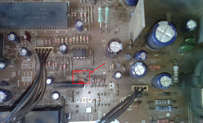 Letak diode D502 DAN D501