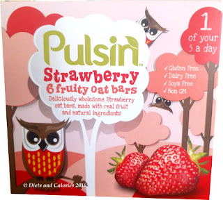 Pulsin Strawberry fruit oat bars