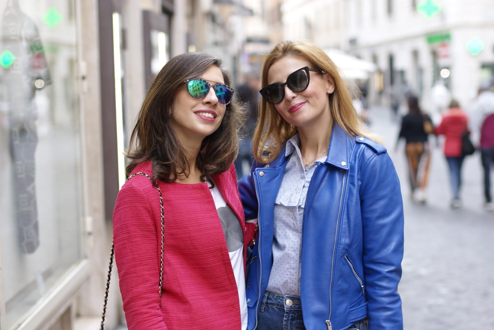Vale e Iolanda on Fashion and Cookies fashion blog, fashion blogger style