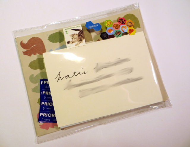Transparent envelope snail mail