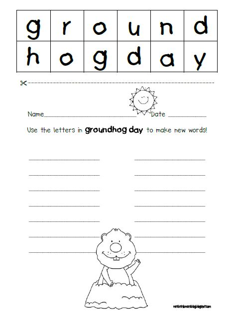 make new words from letters mrs brinkman s groundhog day 2013 543
