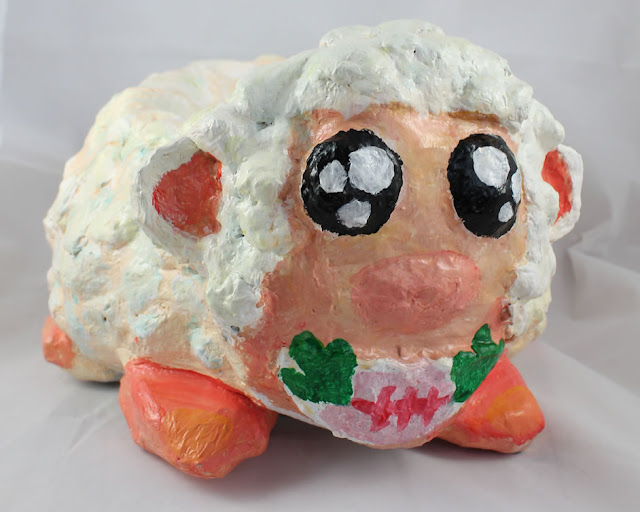 Paper Mache Sheep Pot Plant holder