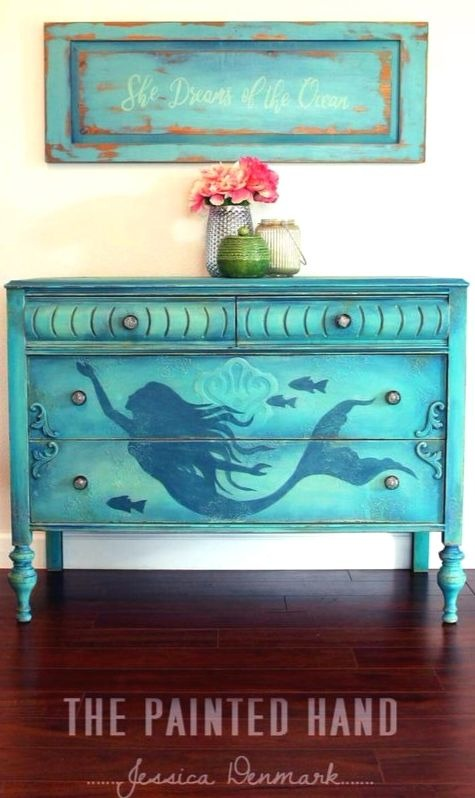 Painted Mermaid Dresser