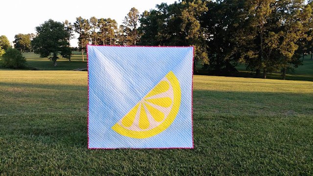Zest lemon citrus quilt pattern by Slice of Pi Quilts