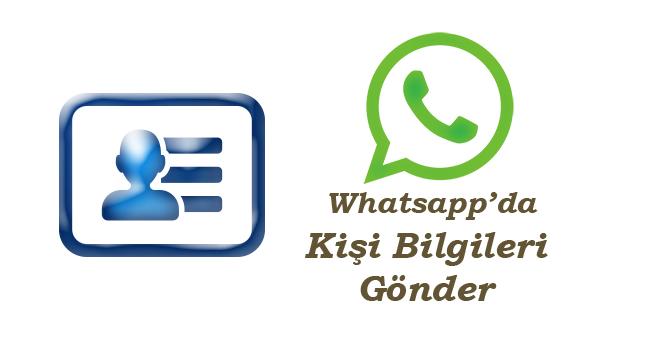 Whatsapp'de Kartvizit-telefon numarası-Nasıl Gönderilir-www.ceofix.com