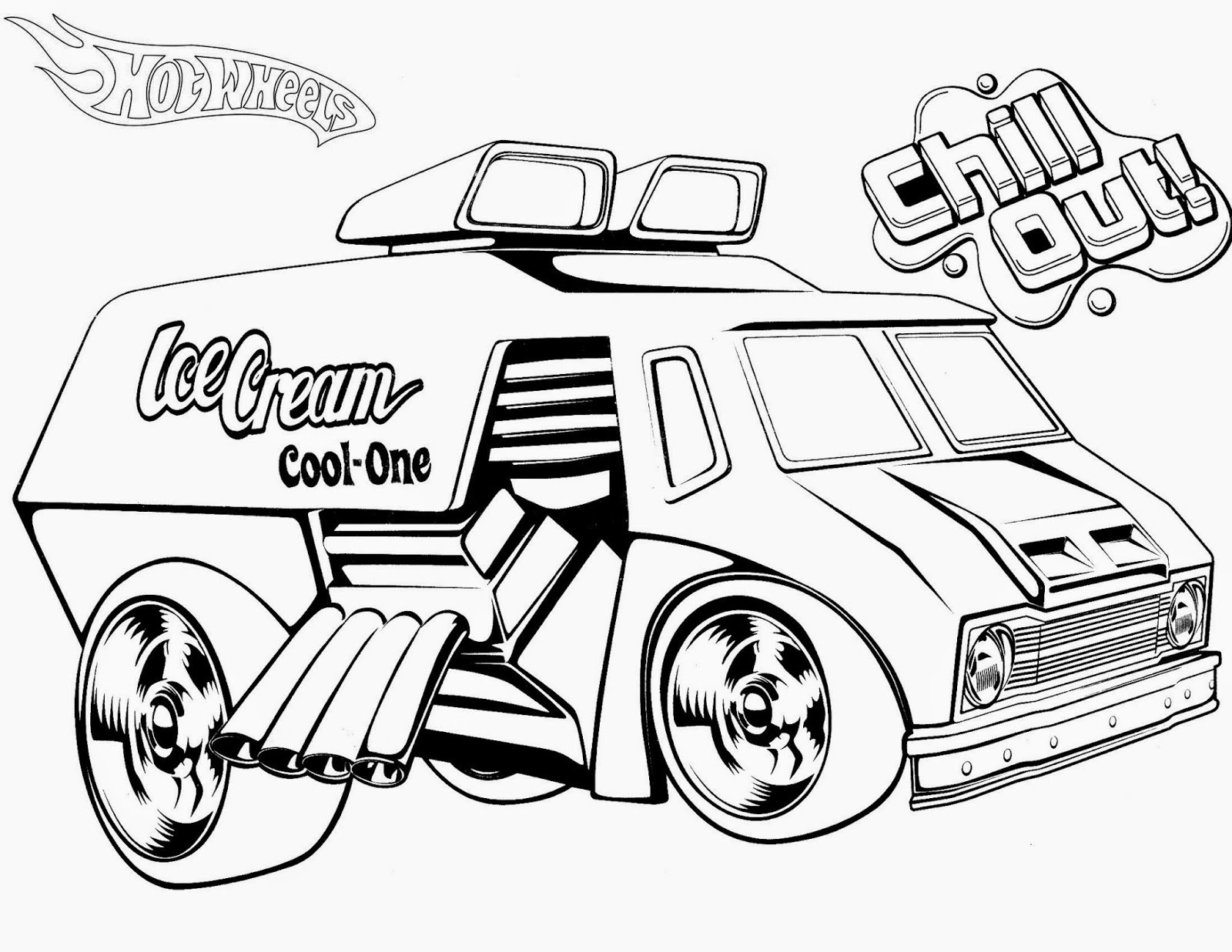 Hot Wheels Coloring Pages 83
