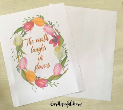 The earth laughs in flowers art printable