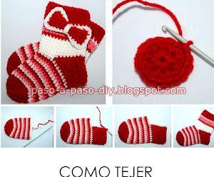 Cómo tejer calcetines al crochet / DIY ~ Explicación en Español