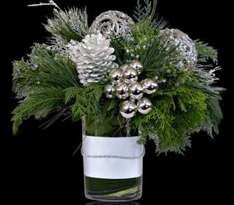 Shimmery Elegance Custom Floral Arrangement