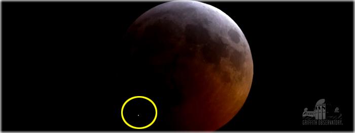 impacto de meteorito na Lua durante eclipse lunar total de 21 de janeiro de 2019