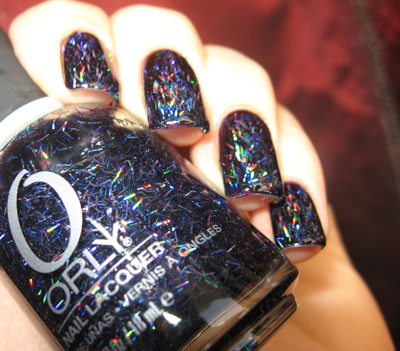 Orly Sunglasses At Night Navy Dark Blue Holo Holographic Glitter Nail Polish Ebay