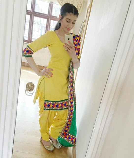 Beautiful Girl in Punjabi suits