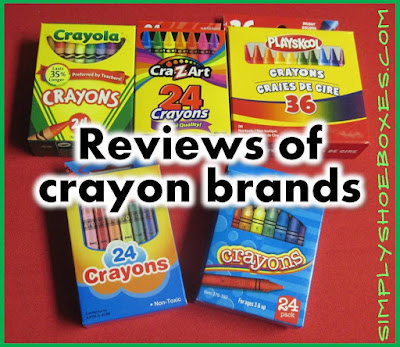 Crayon brand coloring test.  What crayons are best for Operation Christmas Child shoeboxes?
