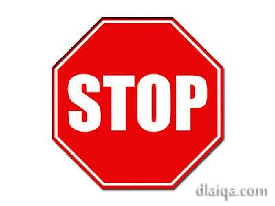 rambu: berhenti