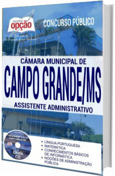 Apostila Câmara de Campo Grande 2017 - Assistente Administrativo