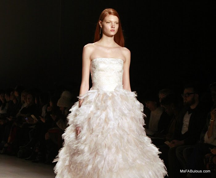 white feather dress