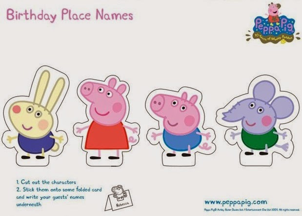 Peppa pig free printable party mini kit oh my fiesta for Peppa pig cake template free