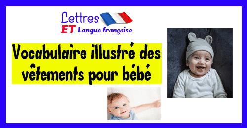 Vocabulaire illustré des vêtements pour bébé