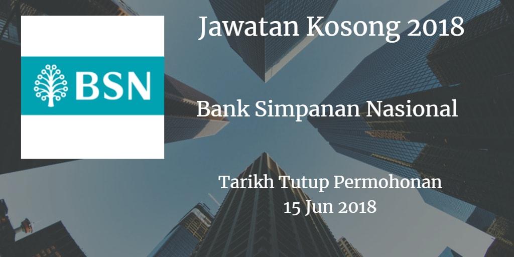 Jawatan Kosong BSN 15 Jun 2018