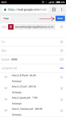 Cara Mengirim Lamaran Kerja Melalui Email Di Android