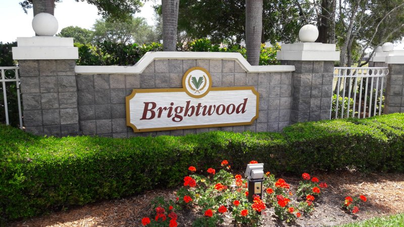 Entrance To Brightwood, Viera, FL