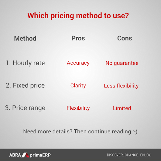 Which pricing method to use?