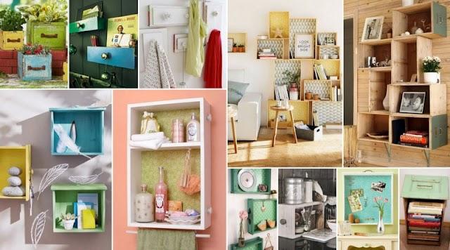 40+ DIY Kατασκευές για το σπίτι από Παλιά Συρτάρια