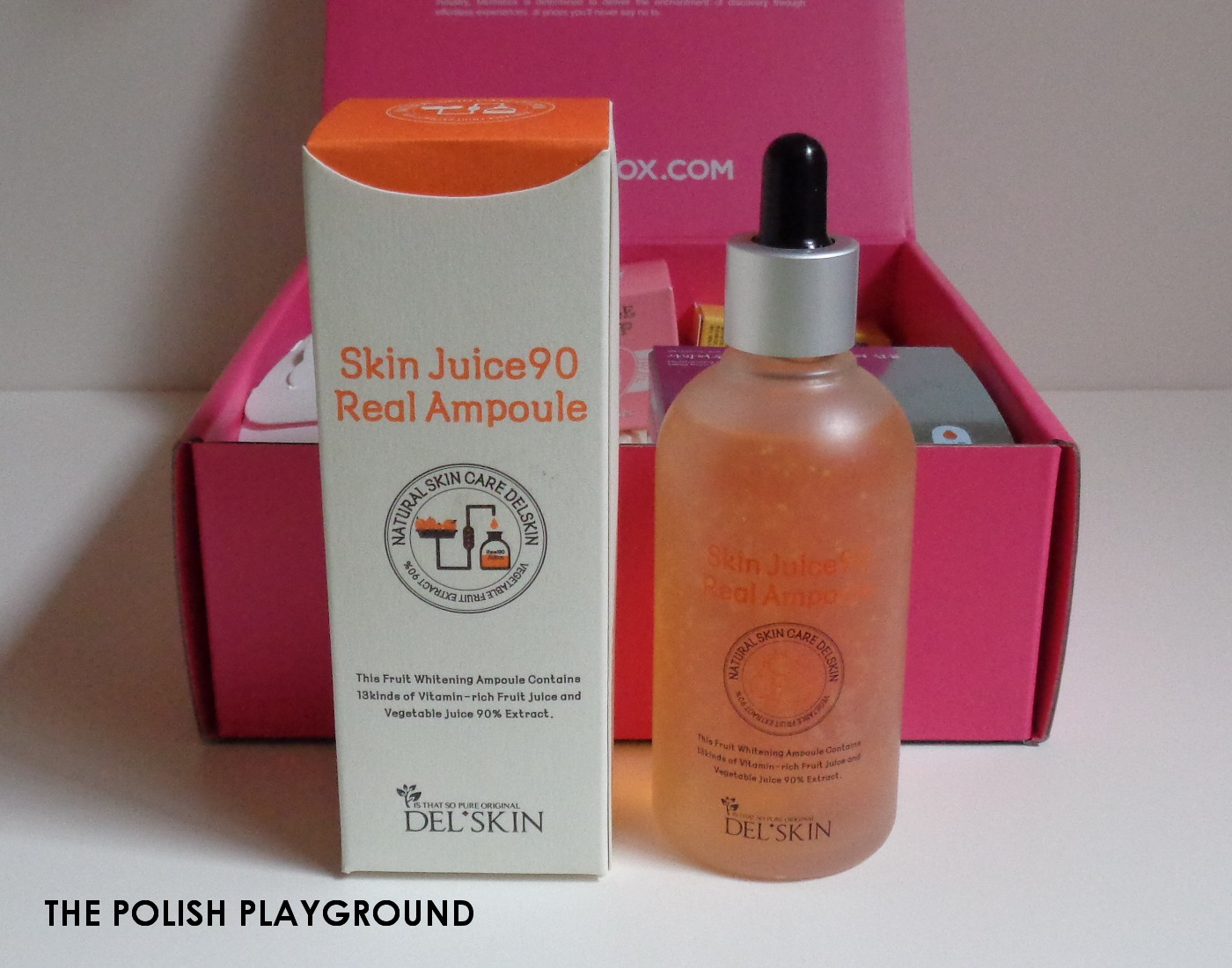 Memebox Special #47 My Dessert Box Unboxing - Delskin Skin Juice90 Real Ampoule