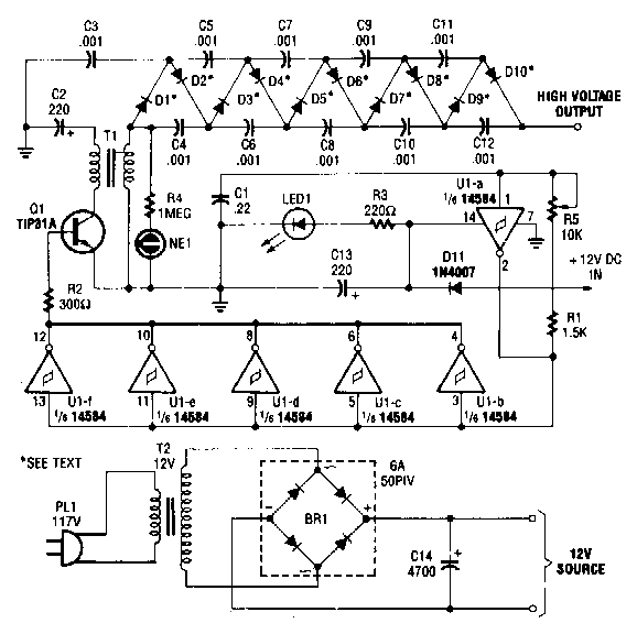 High voltage dc generator high voltage dc generator circuit diagram electronic circuit