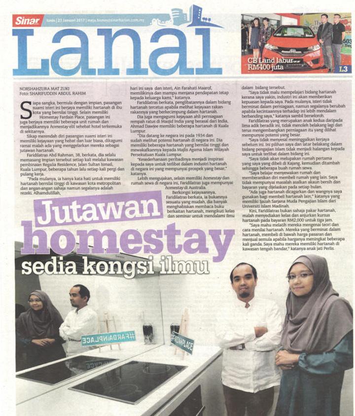 Jutawan homestay Malaysia kongsi ilmu