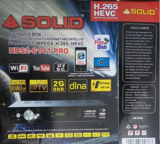 SOLID HDS2-6141PRO FTA Set-Top Box Launched with HEVC and DLNA Features